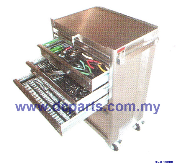 General Truck Repair Tools STAINLESS PROFESSIONAL TOOL BOX 7 DRAWERS WITH 165PCS TOOLS A1077-1