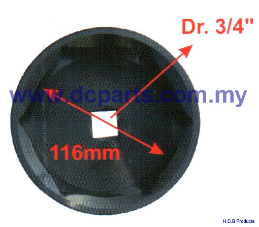 General Truck Repair Tools DAEWOO TRUCK WHEEL AXLE NUT SOCKET Dr. 3/4, 6 POINTS, 116mm A1287