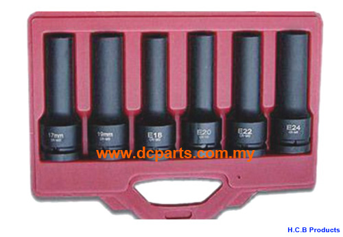 General Truck Repair Tools MAN STAR-E IMPACT SOCKET SET FOR HGV CYLINDER-HEAD BOLD 6PCS C2123